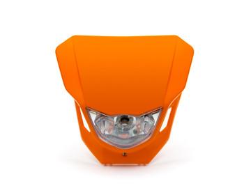 Motorbike Headlight Mask - Supermoto & Streetfighter - Orange - 12V 35W