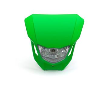Motorbike Headlight Mask - Supermoto & Streetfighter - Green - 12V 35W