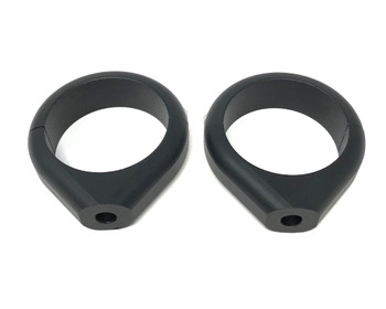 Motorbike Indicator Relocator Fork Clamps - Black - High Quality