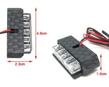 Motorbike LED Light Number Licence Plate - Carbon Fibre Look - for Quad ATV Trike - VERY BRIGHT