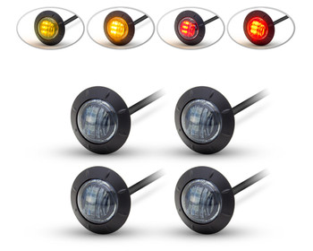 "LED Stop & Tail Lights + Indicators Car, 4x4, Pick Up Truck, 2"" 50mm - Set of 4"