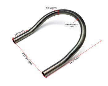 20mm x 210mm Motorbike Rear Seat Loop Frame - Upswept Hoop for Custom Project Scrambler