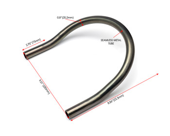 20mm x 230mm Motorbike Rear Seat Loop Frame - Upswept Hoop for Custom Project Scrambler