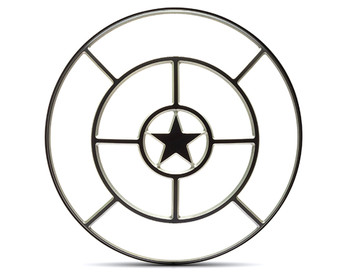 "Star Design 7"" INCH Motorbike Headlight Cover Guard for Cafe Racer Scrambler Project Retro"