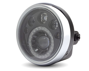 "LED Motorbike 7"" Headlight - 12V  for Retro Cafe Racer & Streetfighter Project"