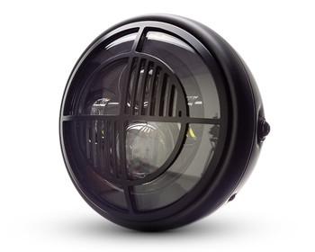 "Motorbike Headlight LED 7.7"" + Grill for Retro BMW Custom Cafe Racer & Scrambler"