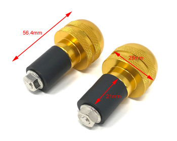"Bar End Weights Anodised Gold for 22mm 7/8"" Handlebars - HIGH QUALITY"