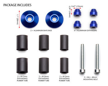"Bar End Weights CNC Billet Aluminium - Blue for 22mm 7/8"" Handlebars"
