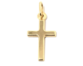 Ladies Delicate 9 ct Gold Hallmarked Cross Pendant