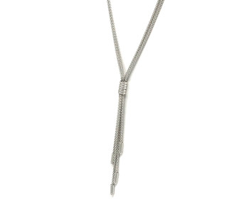 Gorgeous 925 Sterling Silver Tassel Chain Necklace Perfect for Day or Evening Wear