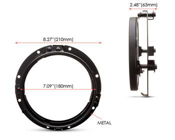 "7"" LED DayMaker Headlight Mounting Ring & Bracket for Harley Davidsons"