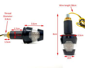 LED Indicators Handle Bar End for 22mm, 25mm, 28mm - HOMOLOGATED - PAIR