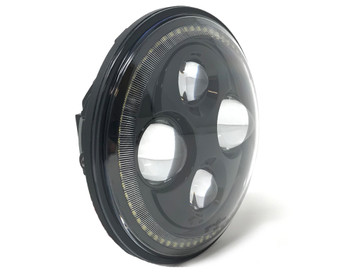 """Motorbike Projector LED Headlight Insert - 7"""" with Halo - High Quality - Homologated"""