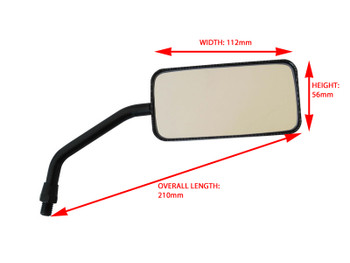 Motorbike Mirrors Carbon Fibre Colour fits 10mm