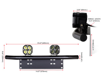 Car 4X4 Spotlight Foglight LED Kit 40W + Licence Number Plate Bracket Light Bar