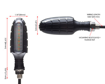 Motorbike LED Indicators & Driving Lights Integrated Blinkers Turn Signals