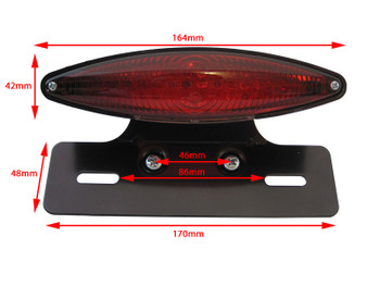 High Quality E-marked Motorcycle Motorbike Custom LED Stop / Tail Light
