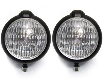 "4.75"" Headlights Bates Style - PAIR - BLACK 35W for Custom Project - Bottom Mount"