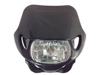 Universal 12V/35W Motocross Headlight For All Motocross & Enduro Motorbikes Black