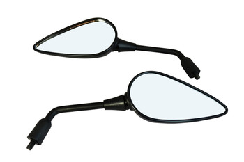 Quality Pair of Benelli Style Motorbike Mirrors E-marked 10mm thread