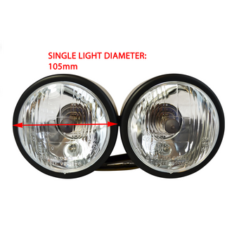 High Quality Pair of 55W Streetfighter / Trike Motorcycle Motorbike Headlights