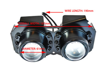 Streetfighter Projector Headlight - 12V 55W