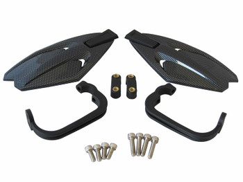 Universal Fit Motorbike & Quad Bike Carbon Handguards