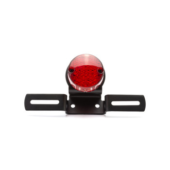 Black Classic Round Style Bulb Stop Light / Tail Light For Project Motorcycles Motorbikes
