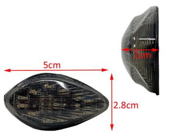 Fairing Mount Slim and Sleek Flush LED Indicator / Turn Signals with Smoked Lense