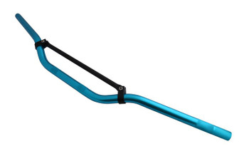 "22mm 7/8"" Blue & Black Braced Motorbike Handlebars for Trail / Motorcross / Streetfighter / Scrambler"
