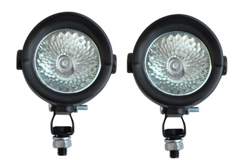 Pair of Small 12V 35W Halogen Spotlights for Adventure Motorcycles Motorbikes Quads