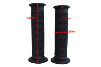 "Universal Black Rubber Motorcycle Motorbike Hand Grips for 22mm 7/8"" Handlebars"