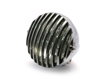 "4 1/2"" 12V 35W Polished Alloy Retro Vintage Grill Headlight Motorcycle Motorbike"