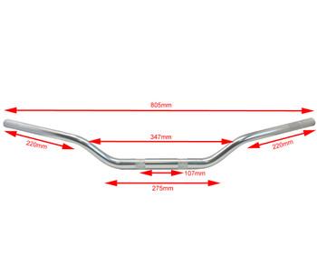 Silver Tapered Alloy 28mm Fat Bars Motocross Streetfighter Supermoto Scrambler
