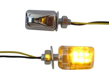 Universal LED E-marked Mini Indicators for Motorcycle Motorbike Trike Scooter