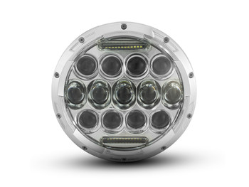 "7"" 75W Chrome Multi Projector LED Headlight Insert with Daytime Running Lights"