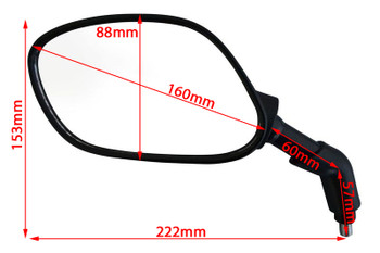 Right & Left M10 Thread Very Good Quality Motorbike Motorcycle Side Rear View LARGE Mirrors