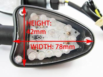 Universal Motorcycle CNC Aluminium Matt Black LED Indicators