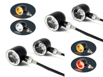 Set of 4 Integrated LED Motorbike Indicators with Driving Lights and Stop Tail Lights