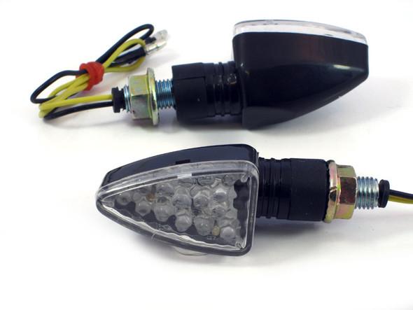 Small Black LED Motorbike Indicators