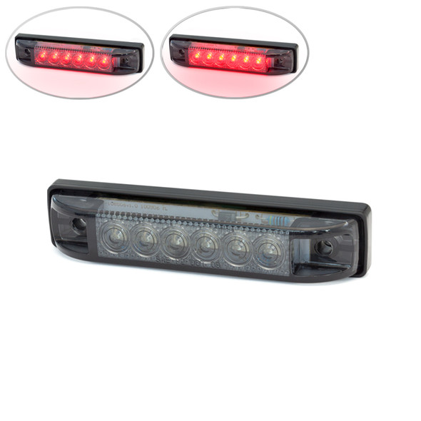 """4"""" / 100mm Flush Mount Motorbike Smoked LED Stop / Tail Light for Streetfighters & Cafe Racers, Brat Bikes"""
