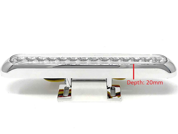 CHROME PAIR LED Stoplights Taillights with Integrated Indicators