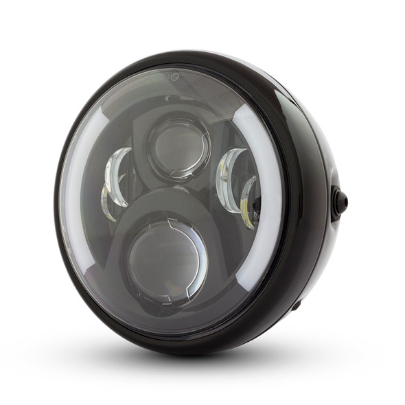 """7.7"""" LED Headlight with Integrated DRL & Indicators - High Quality"""