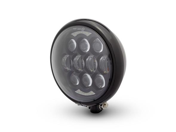Gloss Black Projector LED Motorbike Headlight for Custom Project Bike