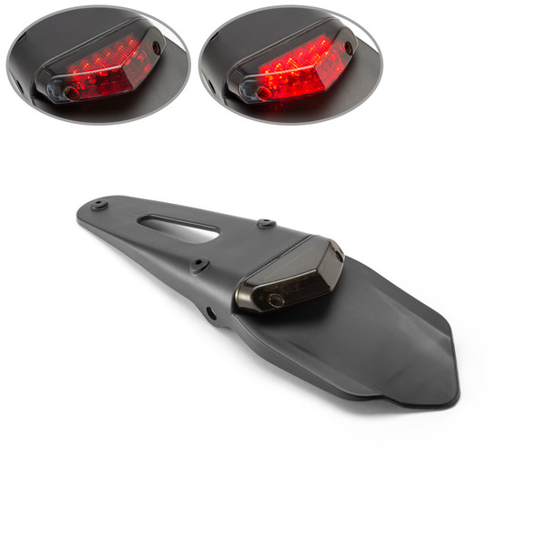 Smoked Lens LED Stop & Taillight for Supermoto Trail Bike Motocross