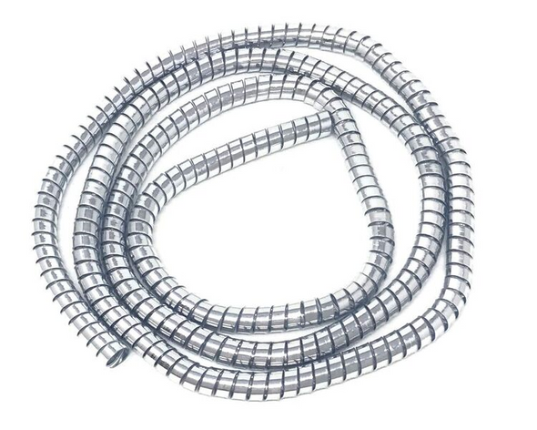 Motorbike Trike Cable Cover Custom Chrome Thick Spiral Wire Wrap 10mm x 1.5m