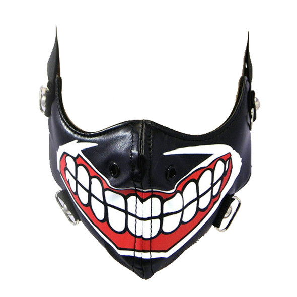 Joker's Grin Face Mask - Motorcyclist Bike Riders Bikers - PU Synthetic Leather