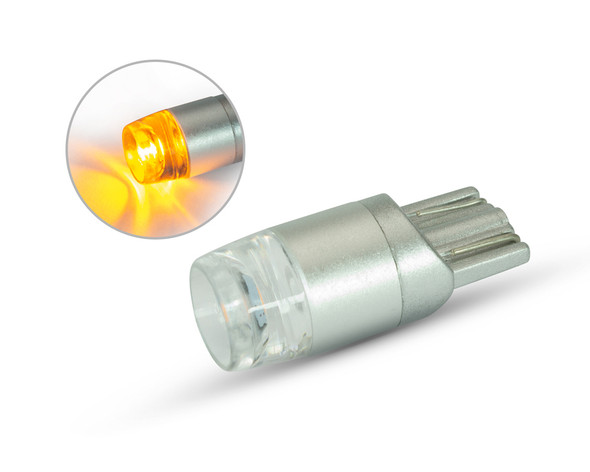 PAIR of Motorbike Projector Bulbs 12V T10 W5W - Amber Indicator
