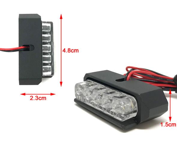 Motorbike LED Light Number Licence Plate - Black - for Quad ATV Trike - VERY BRIGHT