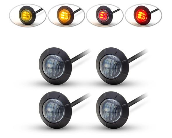 "LED Stop & Tail Lights + Indicators Car, 4x4, Pick Up Truck, 2"" 50mm - Set of 4"
